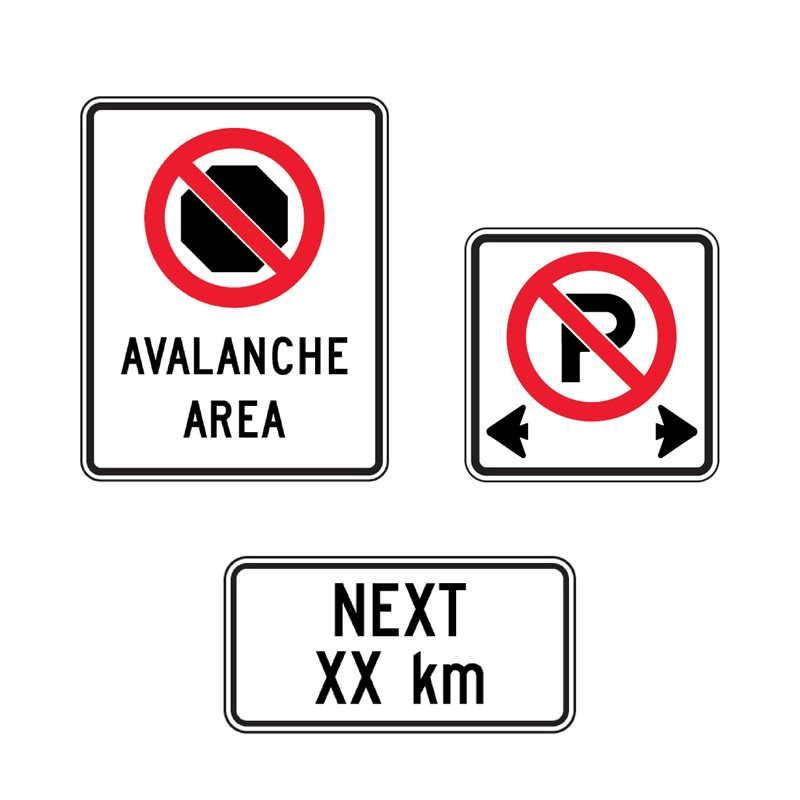 BC Signs - Section 1.1 - Parking & Stopping Signs