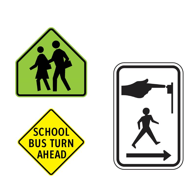BC Signs - Section 1.2 - Pedestrian & School Signs