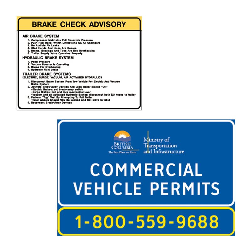 BC Signs - Section 3.0 - Commercial Vehicle Signs