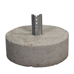Round Concrete Base Uchannel Stub c / w Hardware