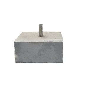 "Concrete base 18"" x 18"" x 8"" (220 lbs)"