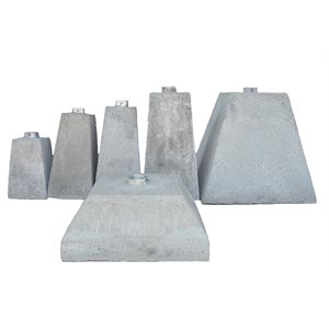 "175 kg Concrete Base for 2-1 / 4"" Square Post c / w Full Length Sleeve"