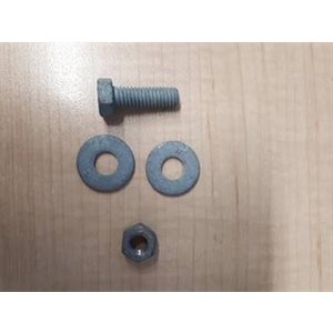 "5 / 16"" x 1"" Hex Bolt c / w Nut & 2 Washers (Hot Dip Galv.)"