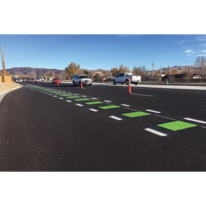 PlastiRoute RollPlast Bike Lane Green
